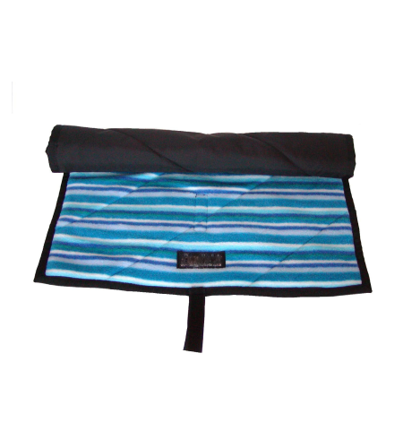 Baby Massage Gift Set Blue Stripey Mat