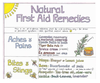 Natural First Aid Remedies